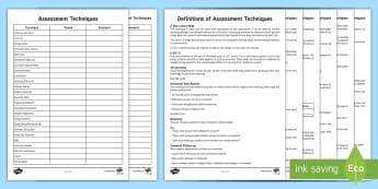 CfE Assessment Techniques Assessment Pack - CfE Assessment Resources, assessment is for learning, aifl, assessment strategies, teaching ideas, t