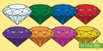 Precious Stones Gemstone Primary Resources - Themed