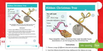 Ribbon Christmas Trees Craft Instructions - Christmas crafts, fabrics, textiles, decorations, gifts