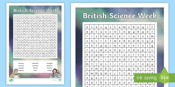 KS2 British Science Week 2018 Word Search - exploration and discovery, investigations, scientific vocabulary, science language, KS2