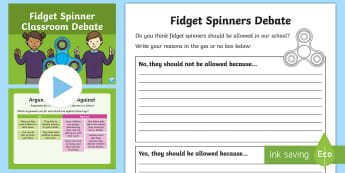 KS1 Fidget Spinners Classroom Debate Activity Pack -  Fidget Spinner, Fidget Spinners, fidget spinner, fidget spinners, fidget spinners debate, fidget sp