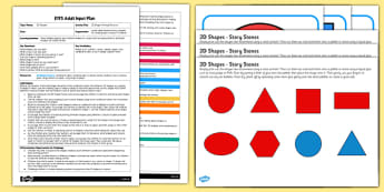 EYFS 2D Shape Printing Patterns Adult Input Plan and Resource Pack - EYFS, Early Years planning, adult led, Maths, shape, space and measure, 2D shapes, repeating patterns.