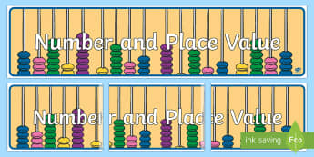 Number and Place Value Display Banner - Australian Curriculum Mathematics Display Banners, number, algebra, number and algebra, number and p
