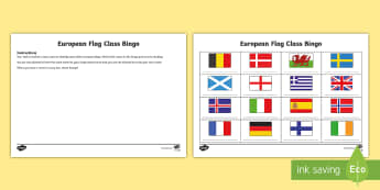 The Great Class Quiz Off European Flags Class Bingo - General Knowledge, Plenary, Current Affairs, Ice breaker, assessment,Scottish