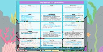 EYFS Under the Sea Enhancement Ideas - planning, under the sea, enhancement