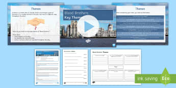 Key Themes Lesson Pack to Support teaching on Blood Brothers by Willy Russell - Blood Brothers, themes, class, friendship, loyalty, superstition, fate, nature, nurture, violence, g
