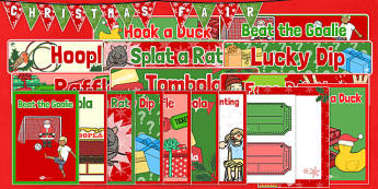 Christmas Fair Resource Pack - christmas fair, resource pack, resource, pack