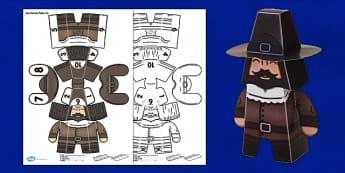 3D Guy Fawkes Paper Model Display - 3d, model, paper, display, guy fawkes, gunpowder plot, bonfire night
