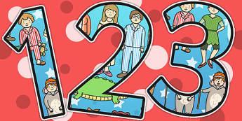Peter Pan Themed Display Numbers - display numbers, peter pan
