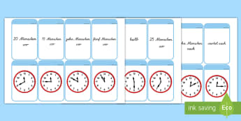 Wie spät ist es? Memorykarten - Zeit, Uhrzeit, Zeit lesen, Zeit erkennen, Zeit schreiben, Zeit verstehen, Memorykarten, Kartenspiel,