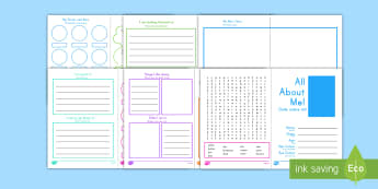 All About Me Activity Booklet US English/Spanish (Latin) - transition, key stage 1, Grade 1, Grade 2, end of term, new starter, tranistion, all bout me, tranit