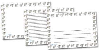Simpsons Donkey Landscape Page Borders- Landscape Page Borders - Page border, border, writing template, writing aid, writing frame, a4 border, template, templates, landscape
