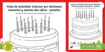 Ficha de actividad: Colorear por divisiones inexactas y exactas con una cifra – Renos - Navidad, dividir, división, repartir, cifras, escrito, escrita, método