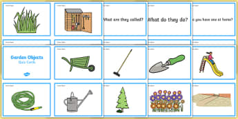 Garden Objects Quiz Cards - ESL Garden Vocabulary
