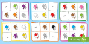 French Colour Bingo -  French Colour Bingo - bingo, lotto, colour bingo, game, game pack, resource pack, bingo pack, lotto