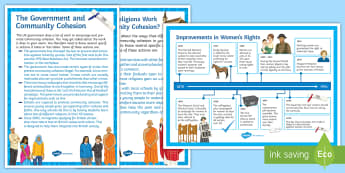 Religion and Social Justice: Display Posters - Community cohesion, Sexism, Racism, Discrimination, Social Harmony