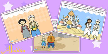 Aladdin Story Sequencing - aladdin, stories, sequencing, books