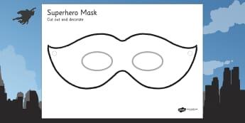 Design a Superhero Mask - design, art, superhero, role play