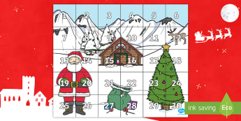 Christmas Themed Bee-Bot Mat - Winter Themed Bee Bot Mat - winter, themed, beebot, bee bot, bee-bot, mat,wnter,wintre, Bee-not