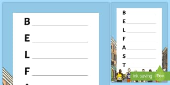 Belfast City Marathon Acrostic Poem - Belfast, City, Marathon, Acrostic, Poem, Poetry
