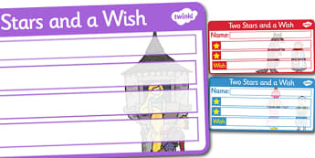 Themed Two Stars and a Wish Comment Labels Traditional Tales - Traditional Tale Themed, Two Stars And A Wish, Comment Labels, Traditional Tale Labels