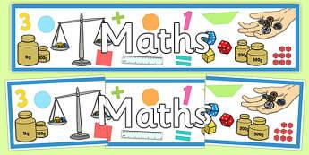 Maths Display Banner - australia, maths, display banner, display, banner