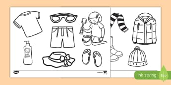 Clothes Colouring Pages