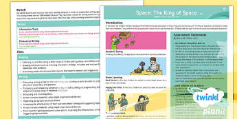 The King of Space Y3 Overview To Support Teaching on 'The King of Space' - Earth and space, astronauts, rex, adventure story, the pirates
