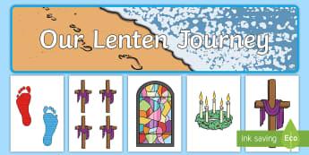 Our Lenten Journey Display Pack - Lent ,Australia, Easter,