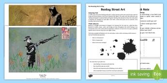 CFE Second Level Art Banksy Resource Pack - print, graffiti, graphics, paint, famous artists