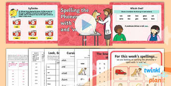 PlanIt Y1 Term 1A W6: 'v' and 've' Spelling Pack