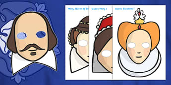 The Tudors Role Play Masks - Tudors, Henry, history, role play mask, role play, Henry VIII, Tudor, England, Queen Elizabeth I, Church of England, reformation