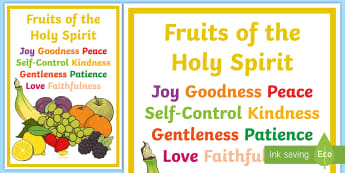 Fruits of the Holy Spirit Display Posters - Fruits of Holy Spirit, Poster, Display, Confirmation, Catholic