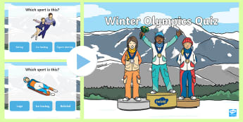 Winter Olympics PowerPoint Quiz - winter, olympic, seasons, quiz