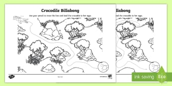 Crocodile Fine Motor Control Activity Sheet - Australian Animals, reptiles, cloze passages, activity sheets, word search, research, fast finisher,