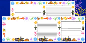 Bonfire Page Borders - page border, border, frame, writing frame, writing template, bonfire, bonfire night, fire page borders, writing aid, writing, A4 page, page edge, writing activities, lined page, lined pages
