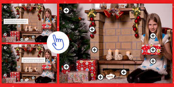 Christmas Spot and Correct the Mistakes Picture Hotspots French - Christmas, French, Noël, describe, mistakes, erreurs, décrire, picture, photo, hotspot, point chau