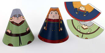 Viking Cone People - viking, history, people, cone, craft, paper