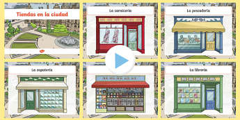 Shops in Town PowerPoint Spanish