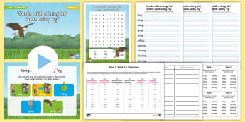 Year 3 Term 1A Week 2 Spelling Pack - Spelling Lists, Word Lists, Autumn Term, List Pack, SPaG, worksheets, long a sound, ey sound