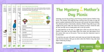 KS1 Mother's Day SpaG Mystery Problem-Solving Game - mothers day, mothering sunday, mother's day activity, mother's day worksheet, mother's day worksh