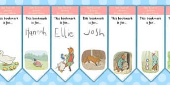 The Tale of Jemima Puddle Duck Editable Bookmarks - bookmarks
