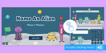 Name an Alien: Phase 2 Phonics Game, Twinkl Go, twinkl go, TwinklGo, twinklgo
