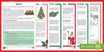 * NEW * KS2 Christmas Differentiated Reading Comprehension Activity Pack - English / Spanish - Christmas, Nativity, Jesus, xmas, Xmas, Father Christmas, Santa, history of Christmas, Christmas tre