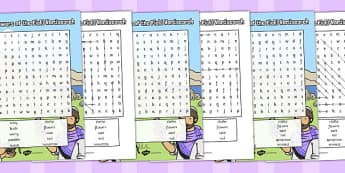 The Flowers of the Field Wordsearch - parable, wordsearch, flower