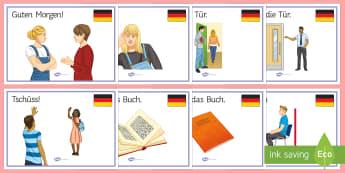 Classroom Commands Display Posters  - School, German, Classroom Instructions, Classroom Commands