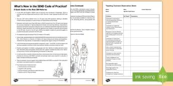 Learning Support Assistant Observation Proforma Adult Guidance - LSA, support, senco, send, sen,