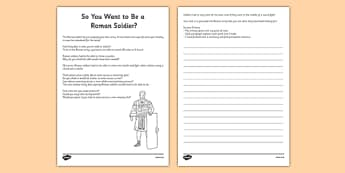 The Roman Army Persuasive Writing CfE First Level - CfE, Social Studies, History, Romans, Army