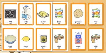 Pancake Day Pairs Matching Game Romanian Translation - romanian, activity, activities, match