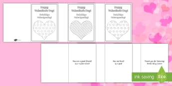 Kindness Message Valentine's Day Cards English/Afrikaans - Love, special, chocolates, flowers, hug, heart, liefde, EAL